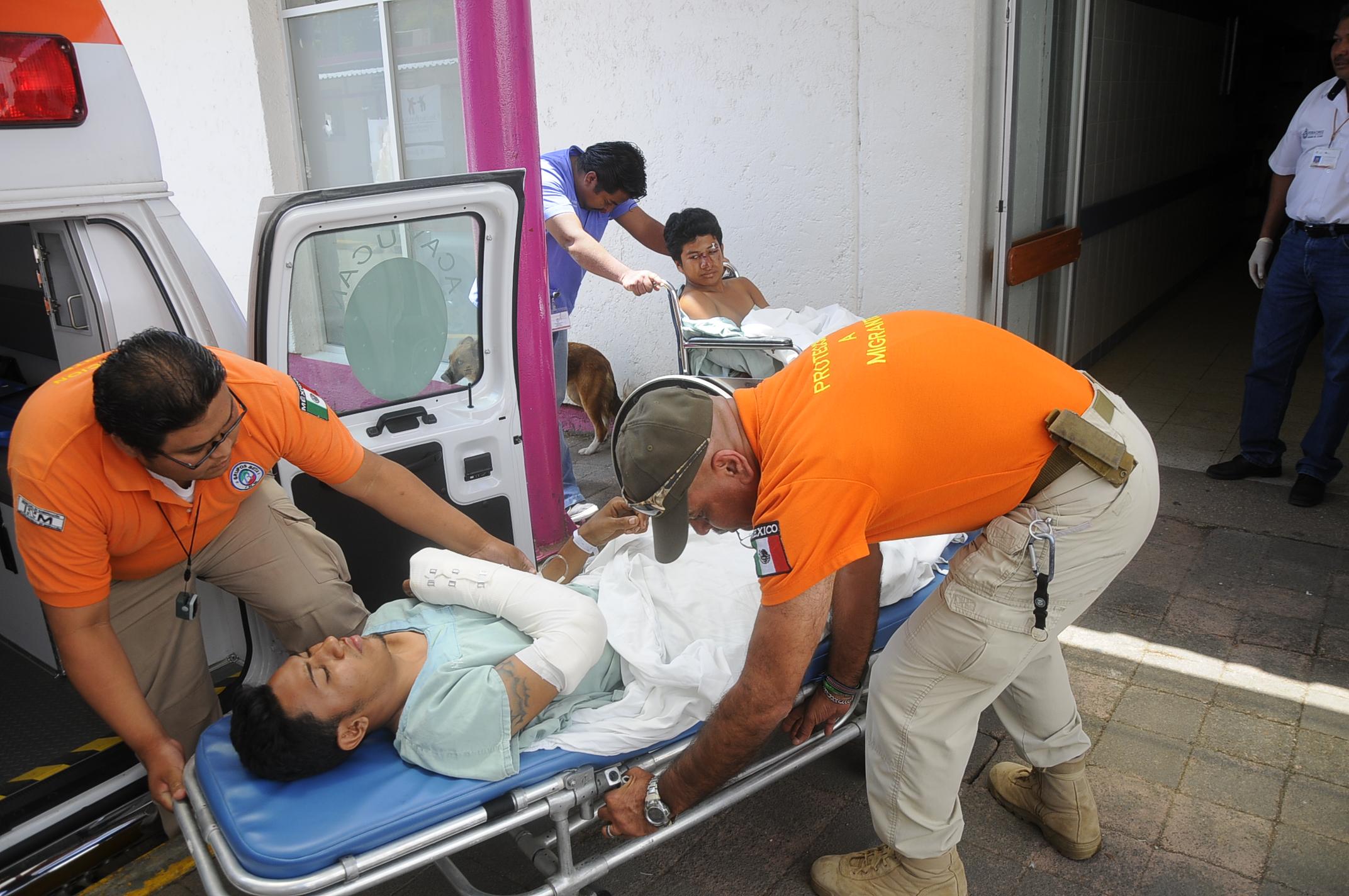 Un migrante muerto y varios heridos en el sur de Veracruz