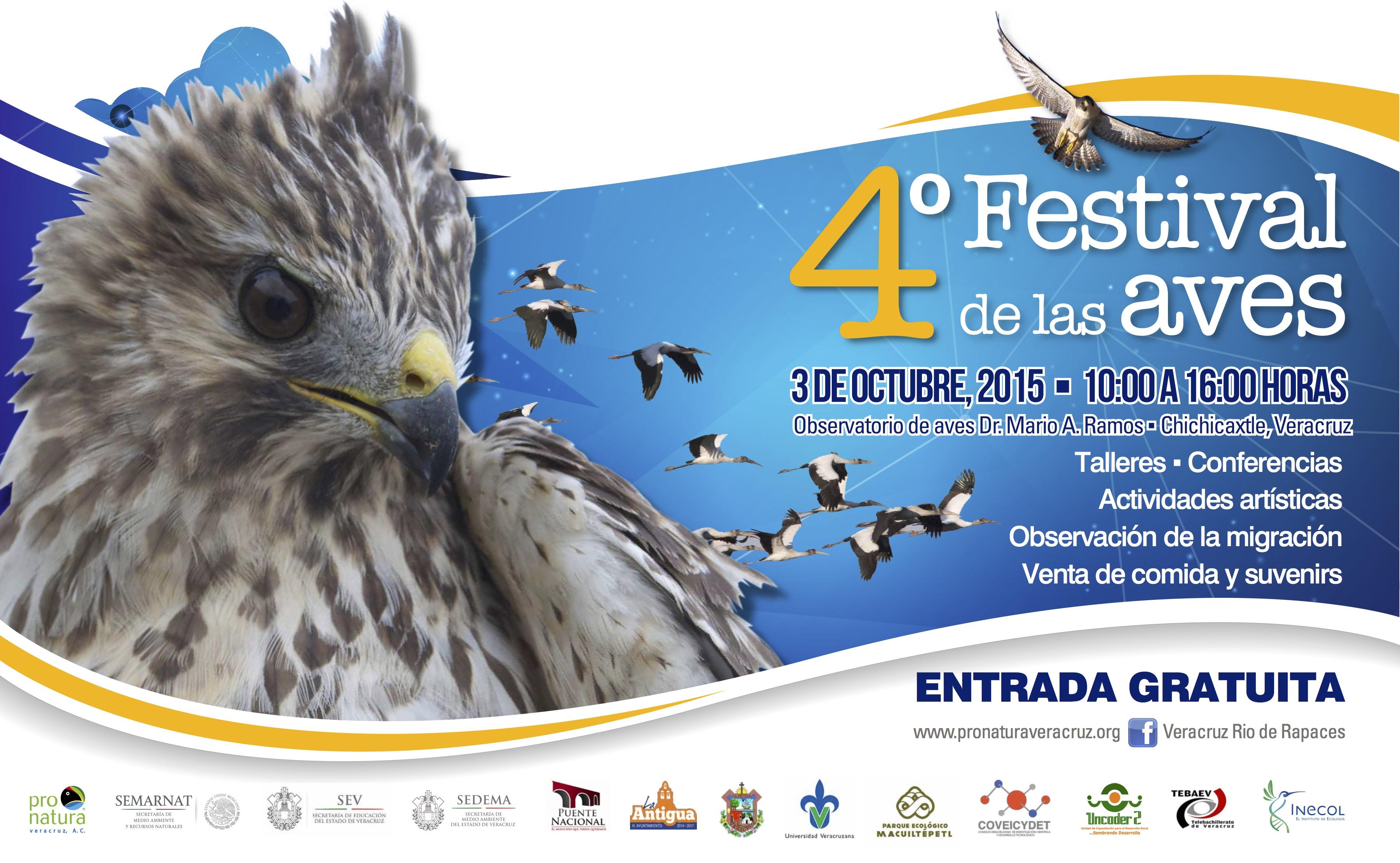 Este sábado 3 de octubre, IV Festival de Aves Migratorias