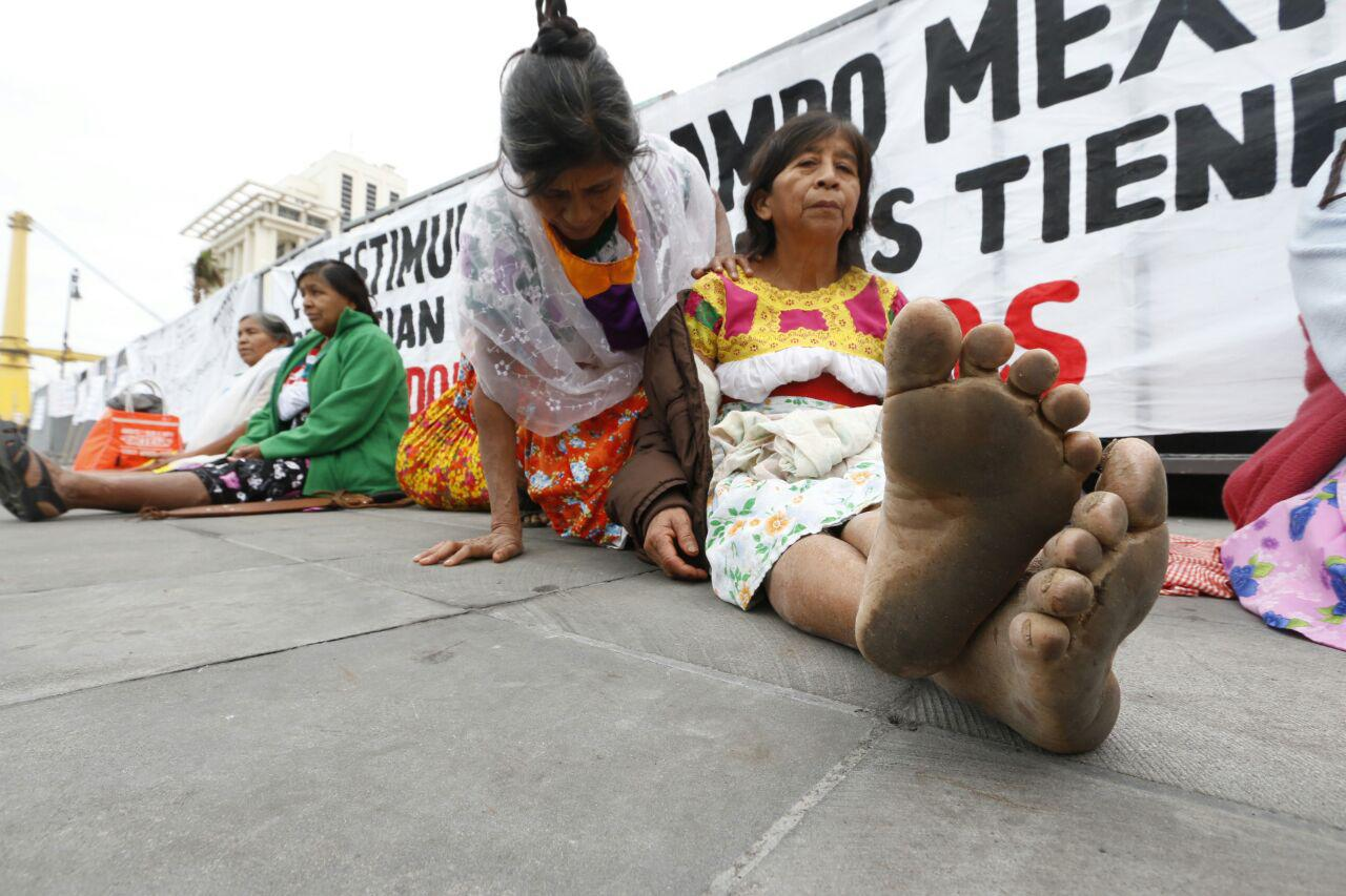 Campesinos exigen apoyos previo a evento por Reforma Agraria