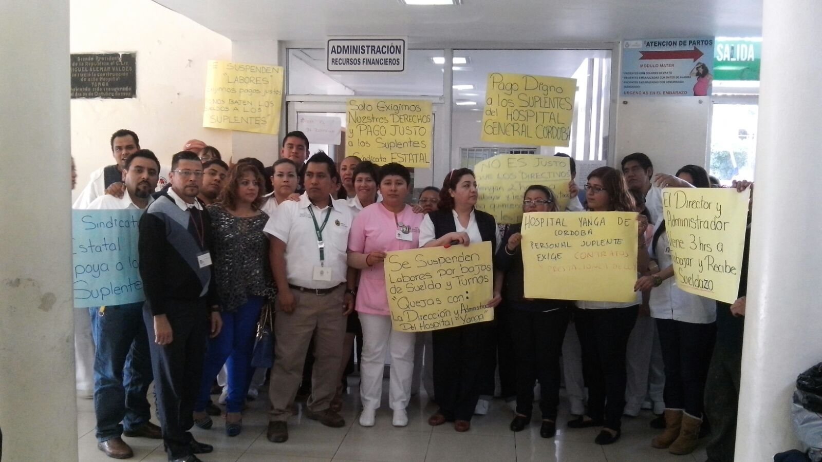 Trabajadores del Hospital General de Córdoba exigen un pago digno