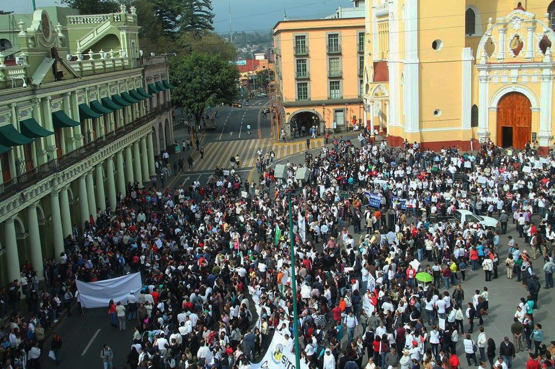 Sindicatos magisteriales protestan contra iniciativa del IPE