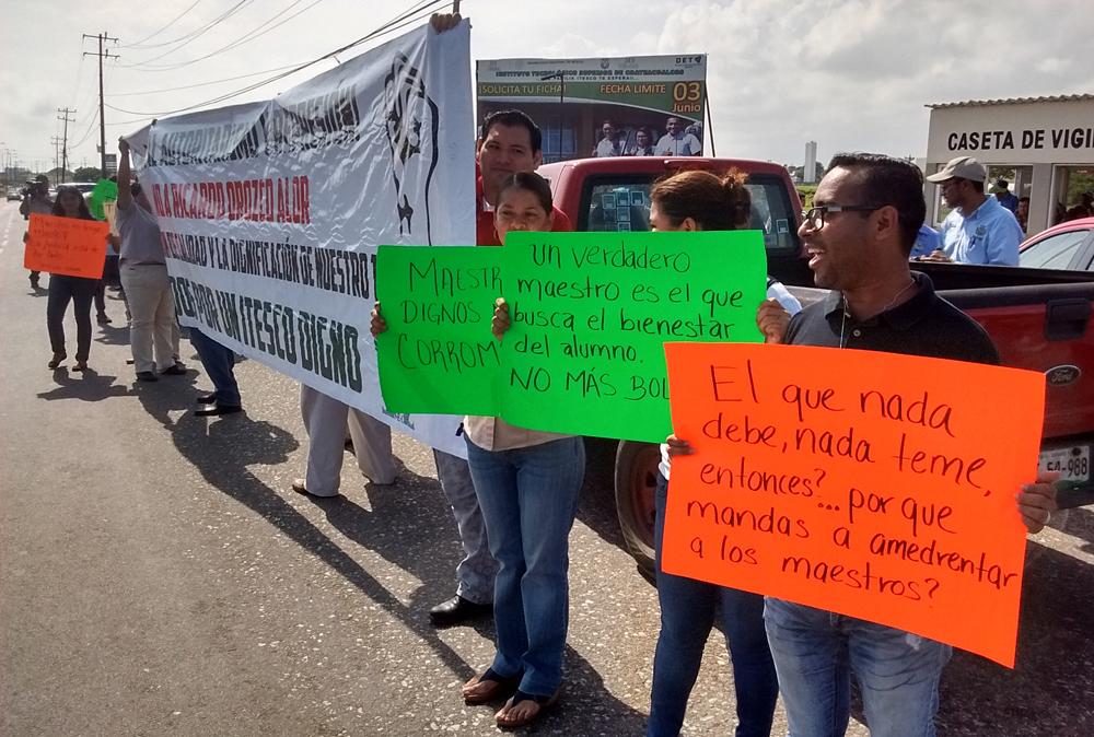 Denuncian despido Injustificado de maestros del Itesco