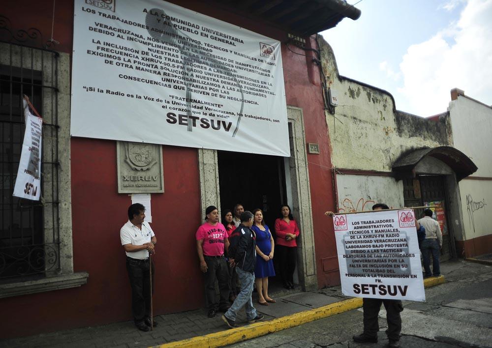 Paros parciales del Setsuv en defensa de trabajadores de Radio UV