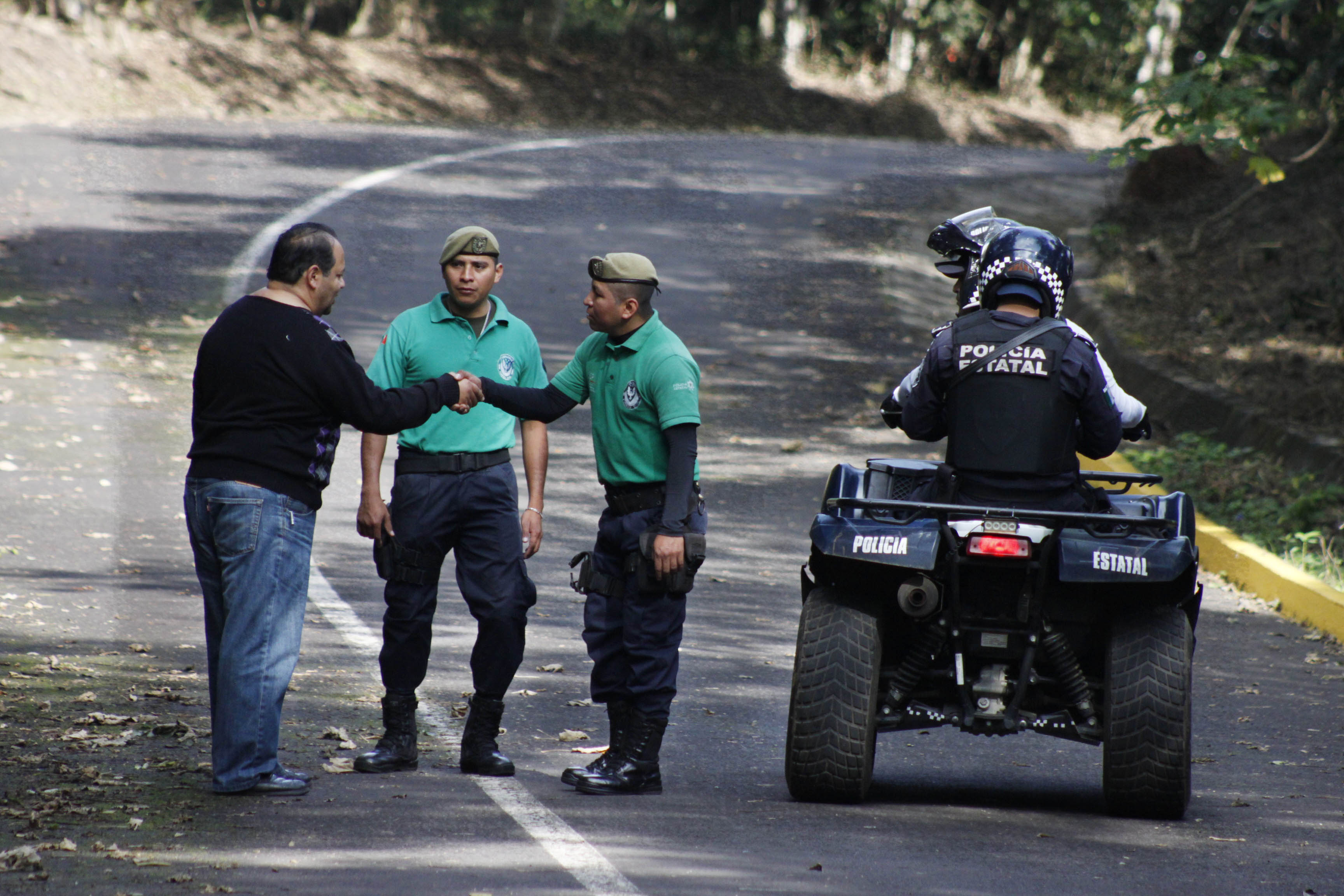 Guarda parques resguardan la seguridad en el Parque Natura