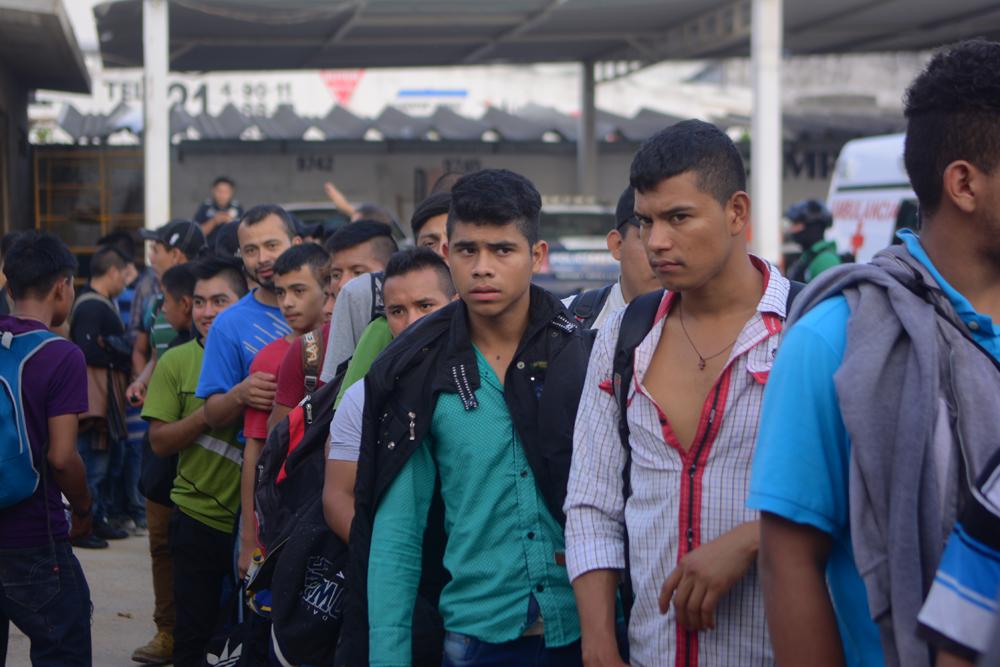 Hay 42 menores entre los 110 migrantes asegurados en la zona sur