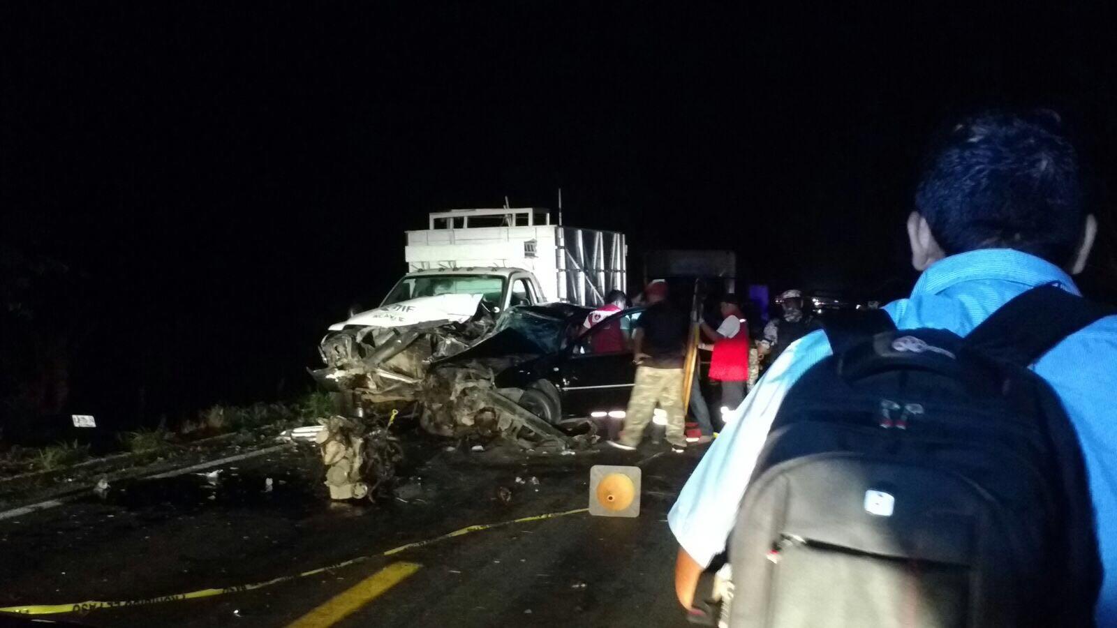 Dos heridos en accidente en la carretera federal a Minatitlán