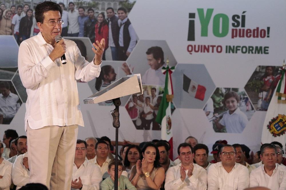 Veracruz recibió el primer semestre del año 55 mmdp: Yunes Landa