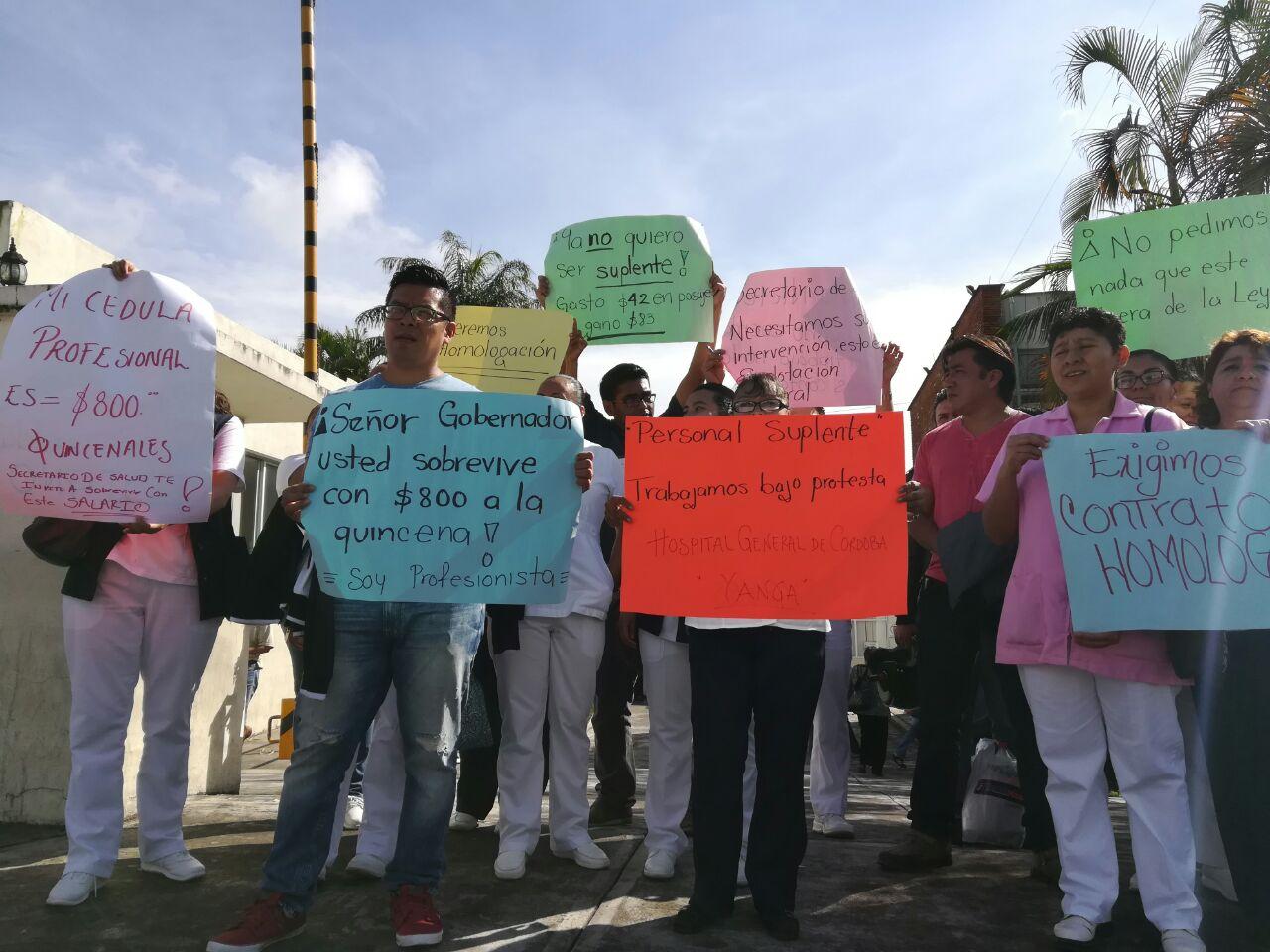 Paro de suplentes en el Hospital de Córdoba por reducción de salarios