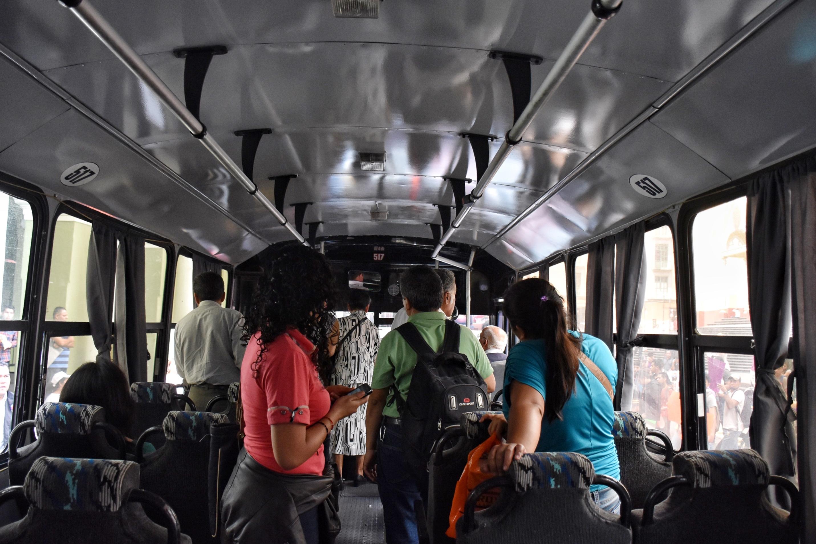 Reportan incremento al transporte en la zona centro de Veracruz