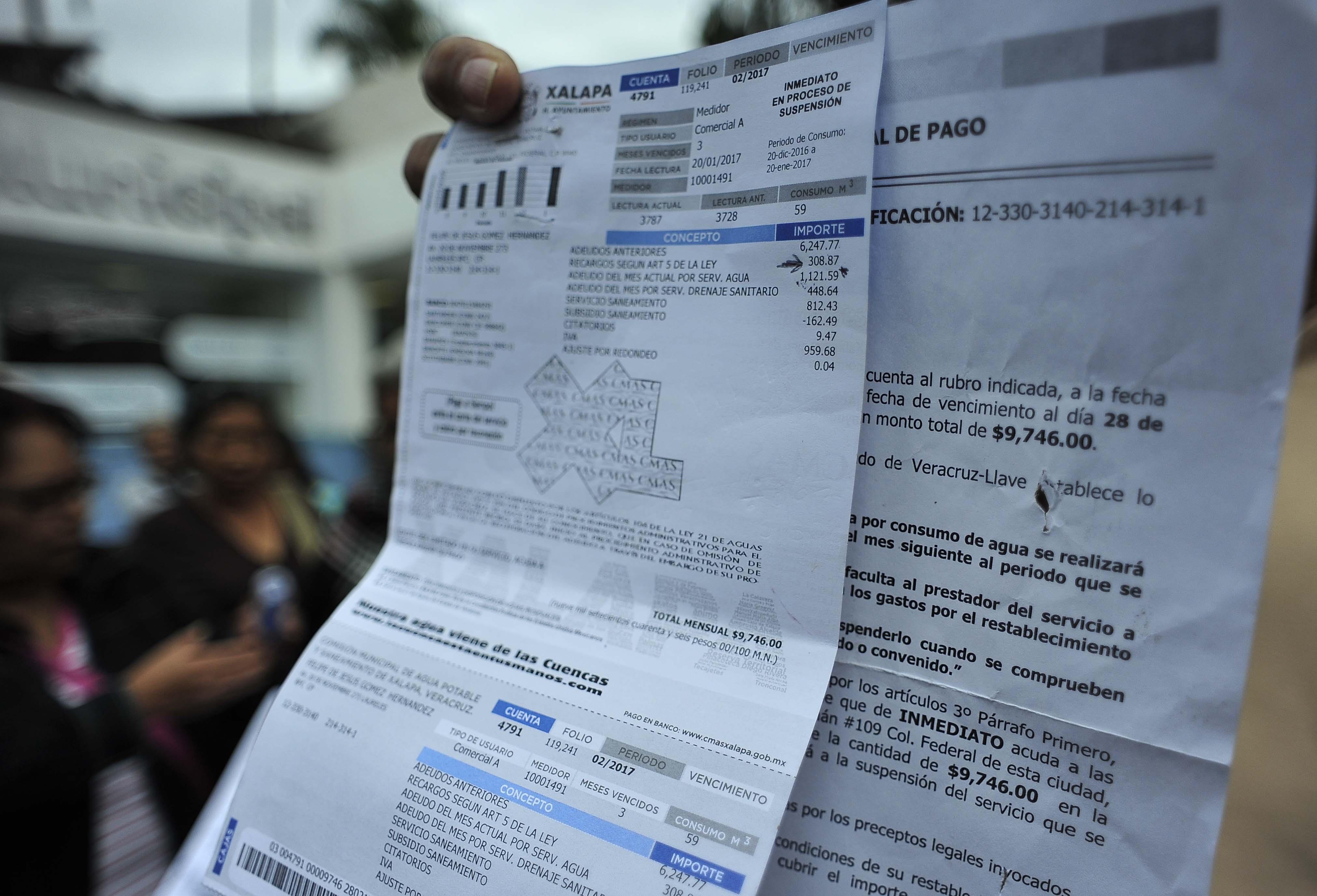 Anuncian modificaciones a tarifas agua y alcantarillado en Xalapa