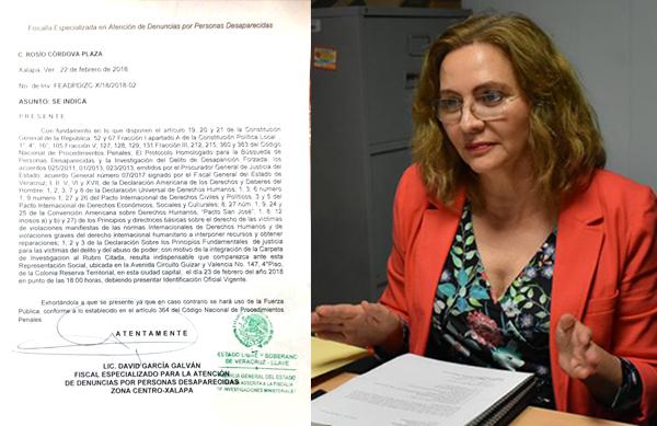 Fiscalía cita a investigadora que documentó secuestros en la UV
