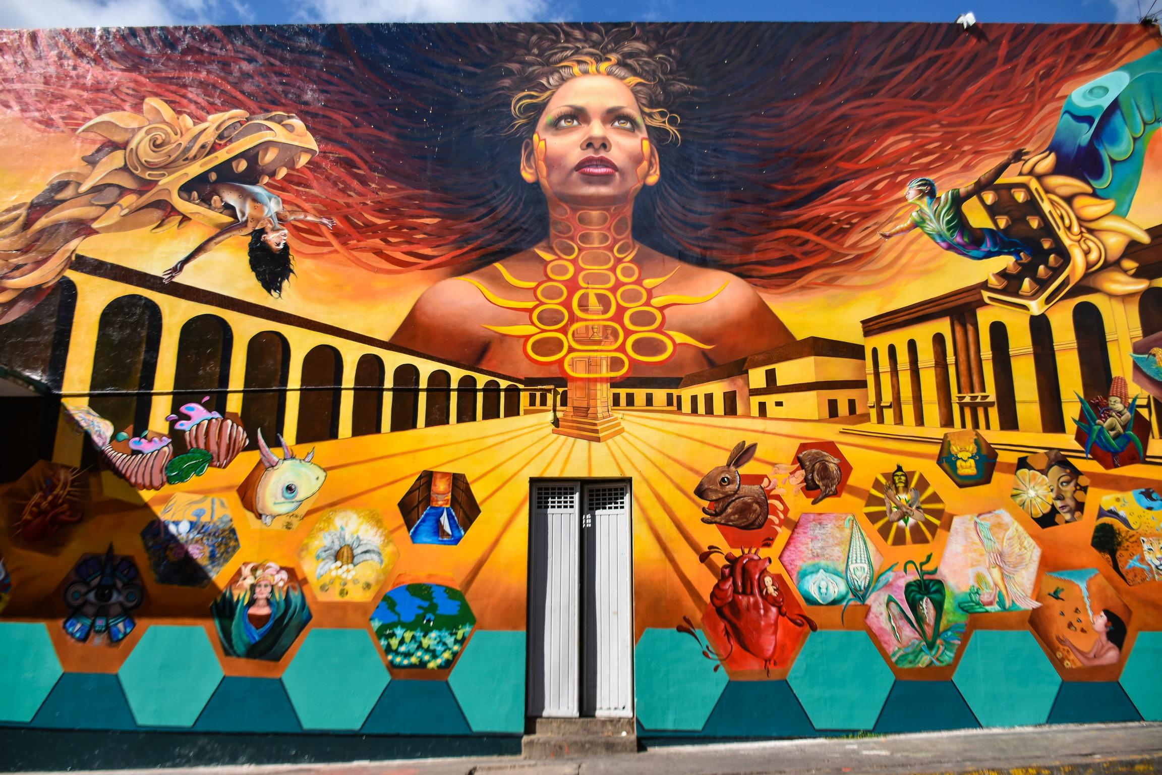 Restauran el mural
