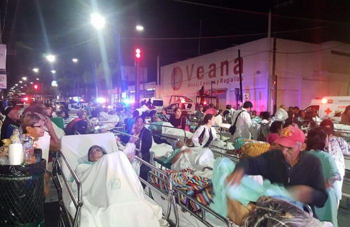 Desalojan a 200 pacientes por incendio en Clínica 8 del IMSS