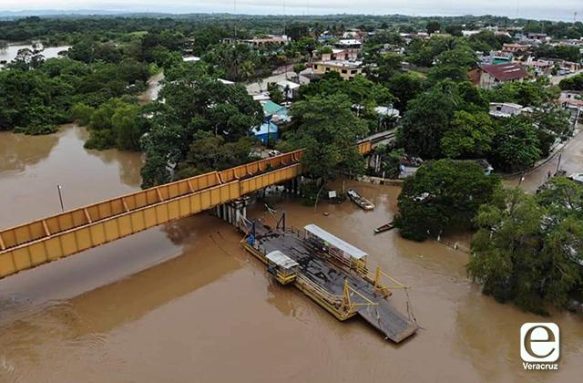 5 municipios en emergencia por lluvias intensas en Veracruz