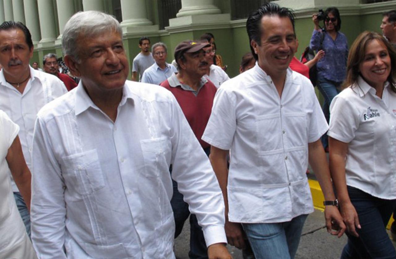 Previo a pisar Veracruz, AMLO respalda gobierno de Cuitláhuac