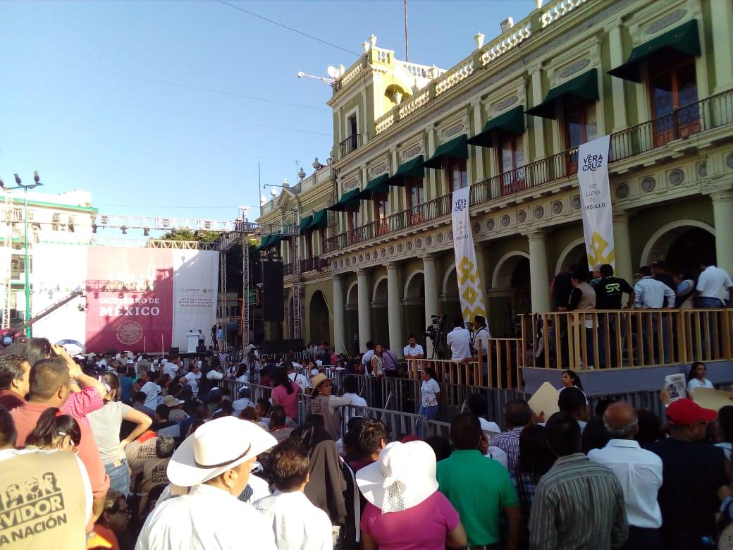En Xalapa todo listo para recibir a AMLO