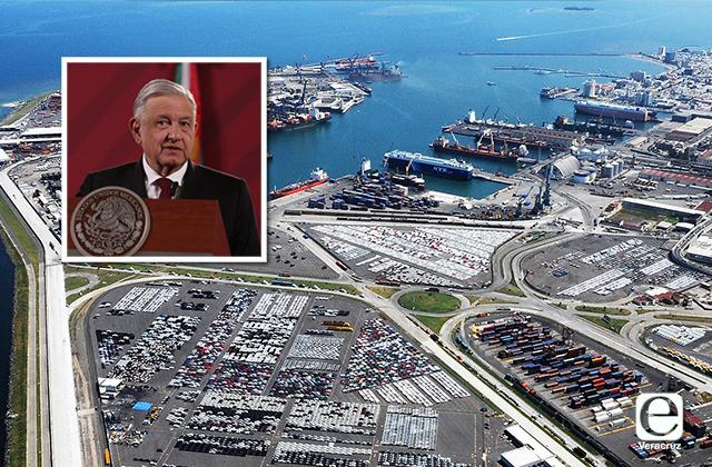 Ya se revisa concesión irregular del Puerto de Veracruz: AMLO
