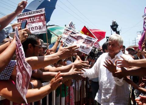 Me canso ganso, se acabará la corrupción en el país: AMLO