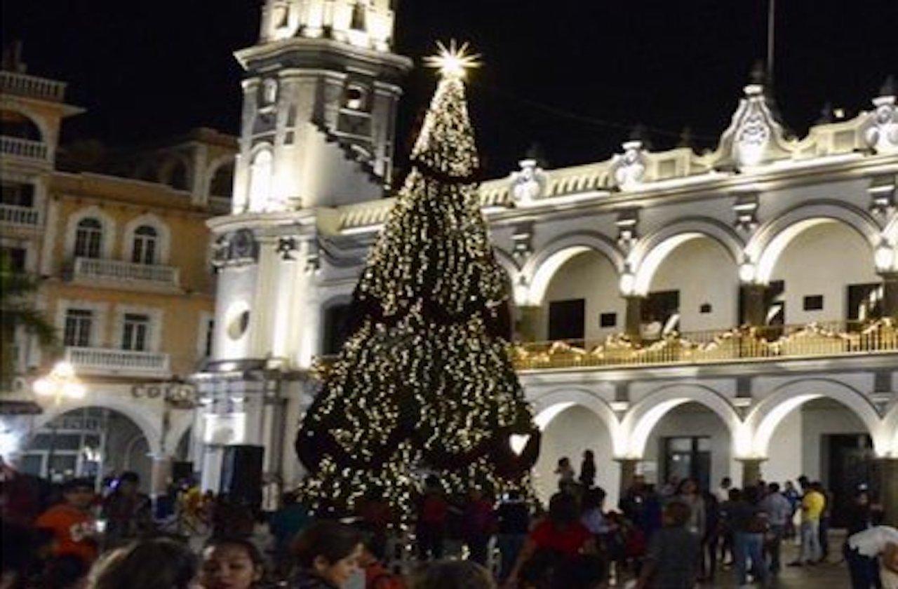 Ayuntamiento de Veracruz gastó casi 100 mil pesos en pino de navidad