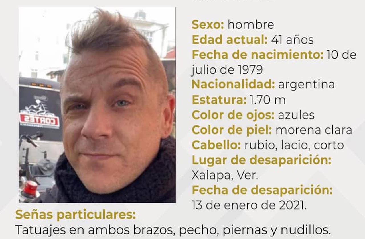 Argentino cumple 21 días desaparecido en Xalapa