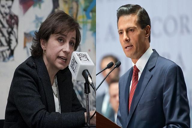 Presidencia asegura que no promueve demandas en contra de Aristegui