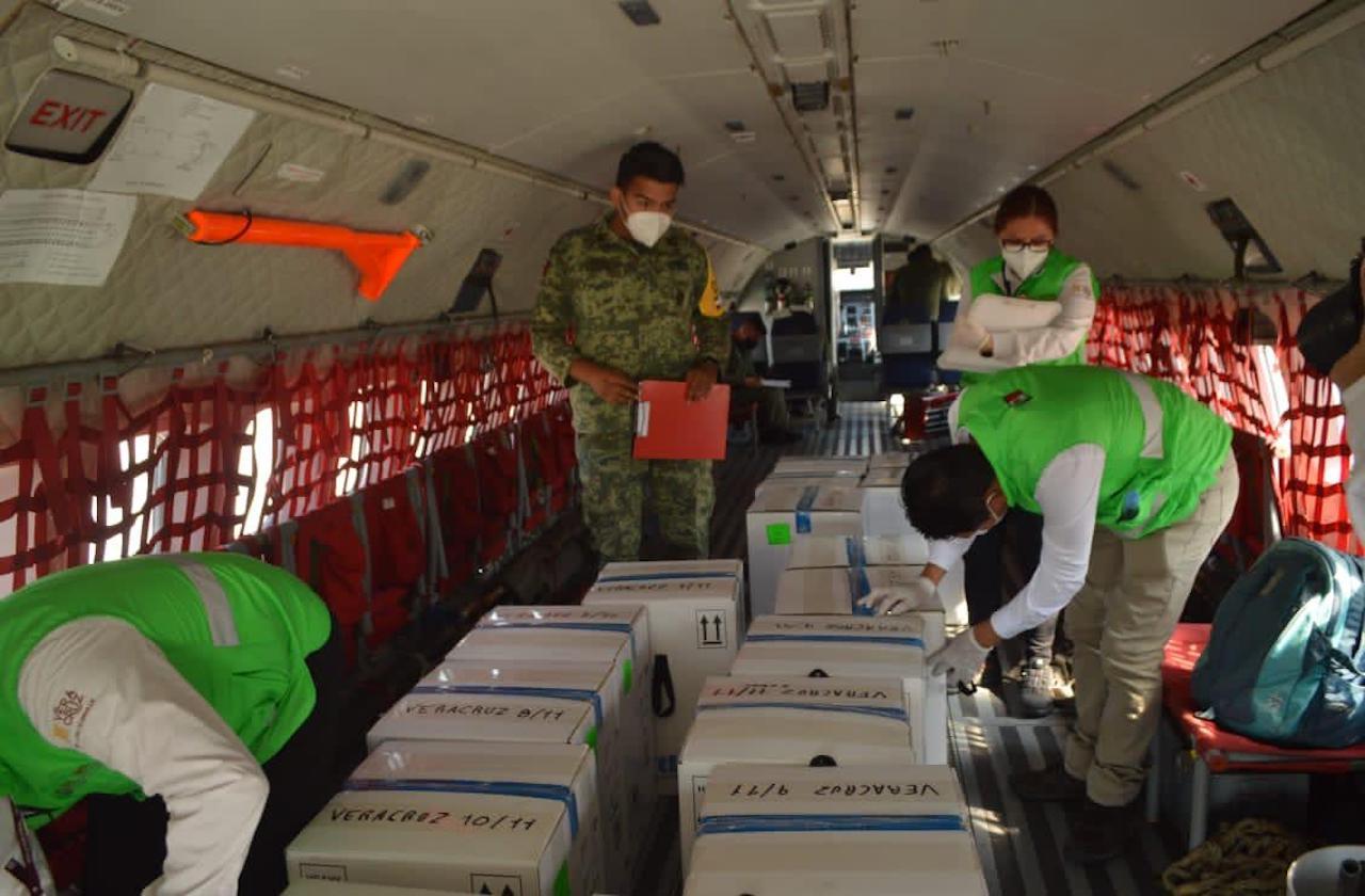 ¿Dónde se aplicarán las vacunas Pfizer que llegaron hoy a Veracruz?