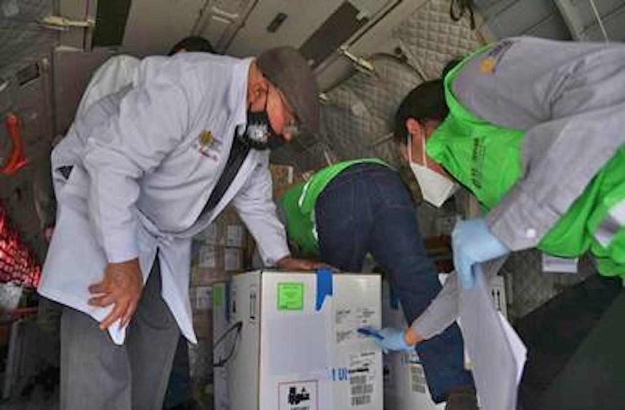 Arribó cuarto lote de vacunas anticovid a Veracruz