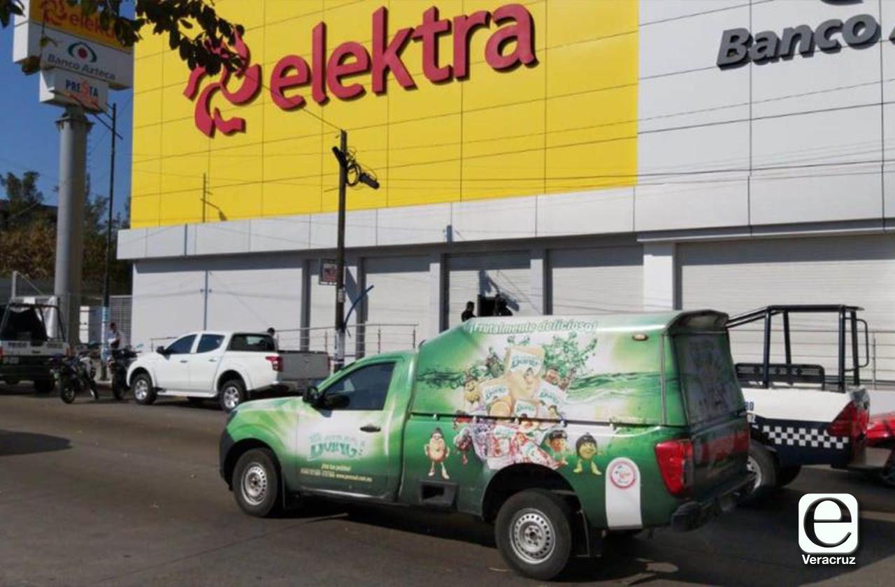 Frustran asalto a Elecktra y detienen a 4, en Veracruz Puerto