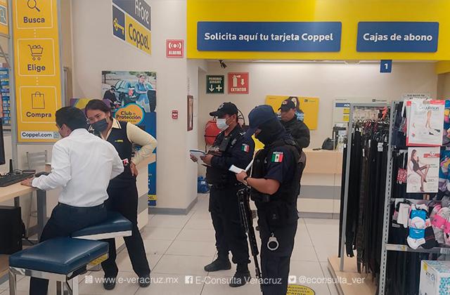 Asaltan Coppel de Las Choapas y se llevan más de 70 mil pesos