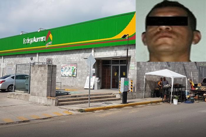 Se organizan y atrapan a ladrón en supermercado del puerto de Veracruz