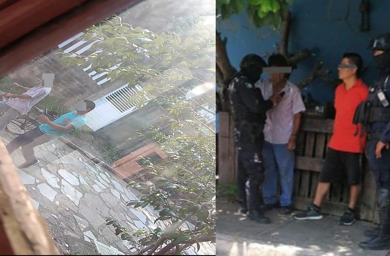 Vecinos atrapan a ladrones en Coatza y los entregan a policías