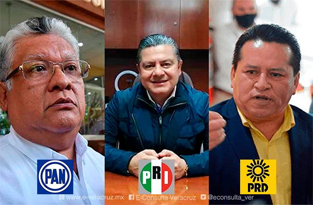 Así repartirán PAN, PRI y PRD 103 candidaturas locales en Veracruz