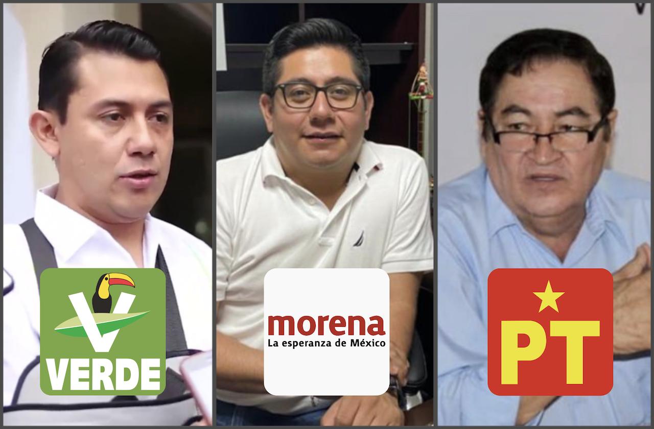 Así se repartirán Morena, PVEM y PT candidaturas en Veracruz
