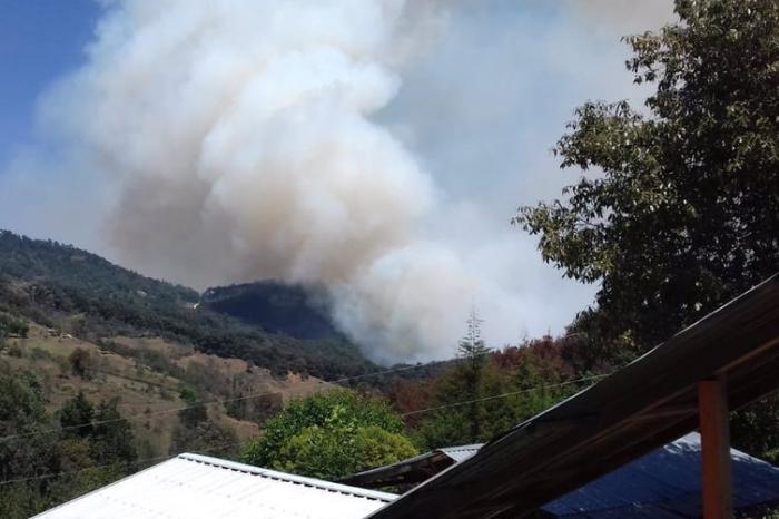 Un muerto por incendio forestal en Astacinga, sigue fuego en Acultzingo