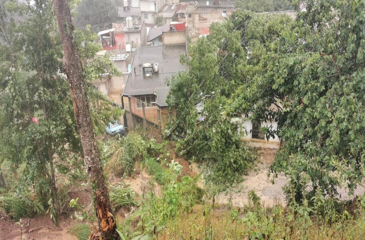 Atiende PC Municipal afectaciones por lluvias en Xalapa