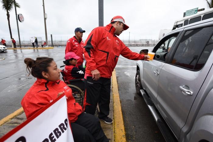 Atletas paralímpicos realizan boteo rumbo al Panamericano Juvenil en Sao Paulo