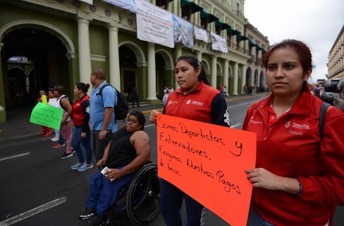 Deportistas paralímpicos piden intervención de EPN en Veracruz