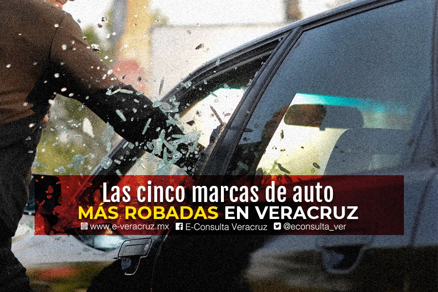 Las cinco marcas de autos más robadas en Veracruz