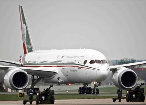 Sedena da a conocer costos por avión presidencial estacionado en EU