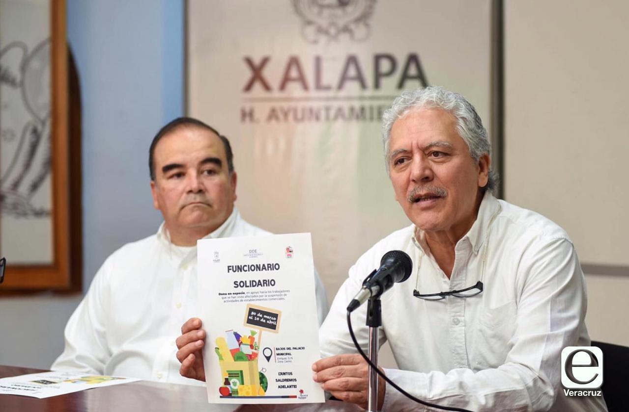 Ayuntamiento de Xalapa organiza colecta de despensa para atender contingencia