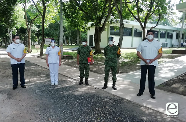 Activan Hospital para pacientes covid en Batallón de Minatitlán