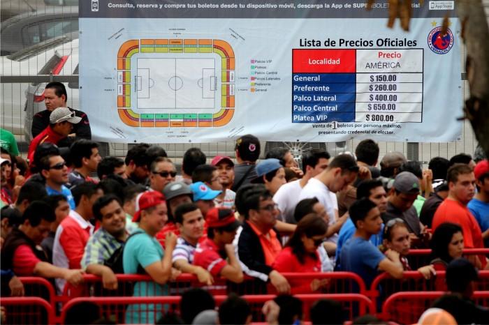Reventa aumenta hasta seis veces precios del Veracruz-América