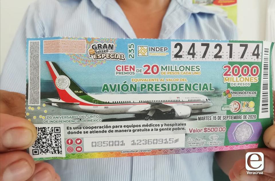 Pandemia no frena venta del boleto para rifa del avión en Coatza