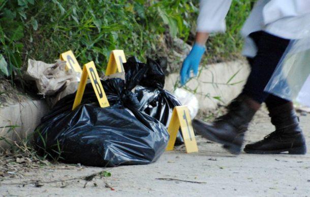 En distintas bolsas, hallan restos de hombre en calles de El Higo