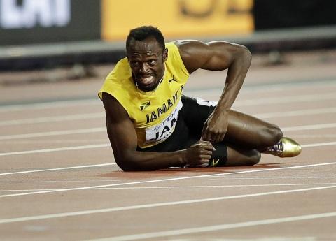 La caída de un Rey; lesión impide a Bolt terminar su última carrera