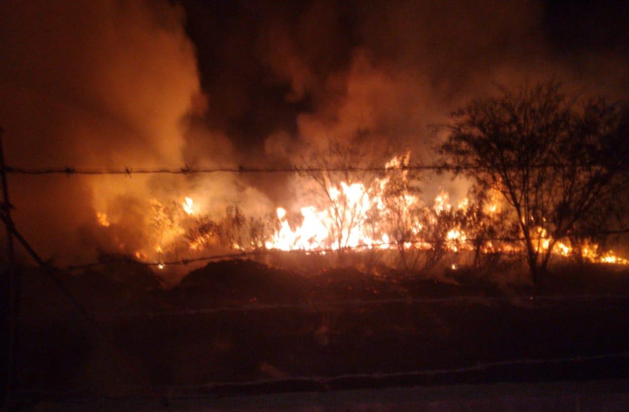Bombero resulta intoxicado al sofocar incendio en Nogales