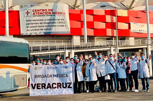 Brigada médica de Veracruz apoyará combate a covid en CDMX