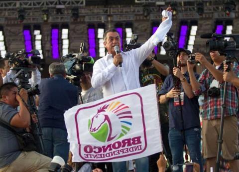 El Bronco cierra campaña pidiendo a mexicanos