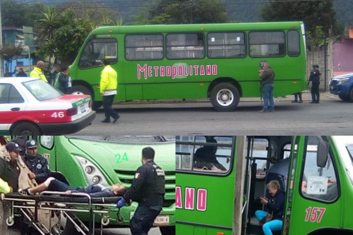 Balean otro autobús en Río Blanco, hay cuatro heridos