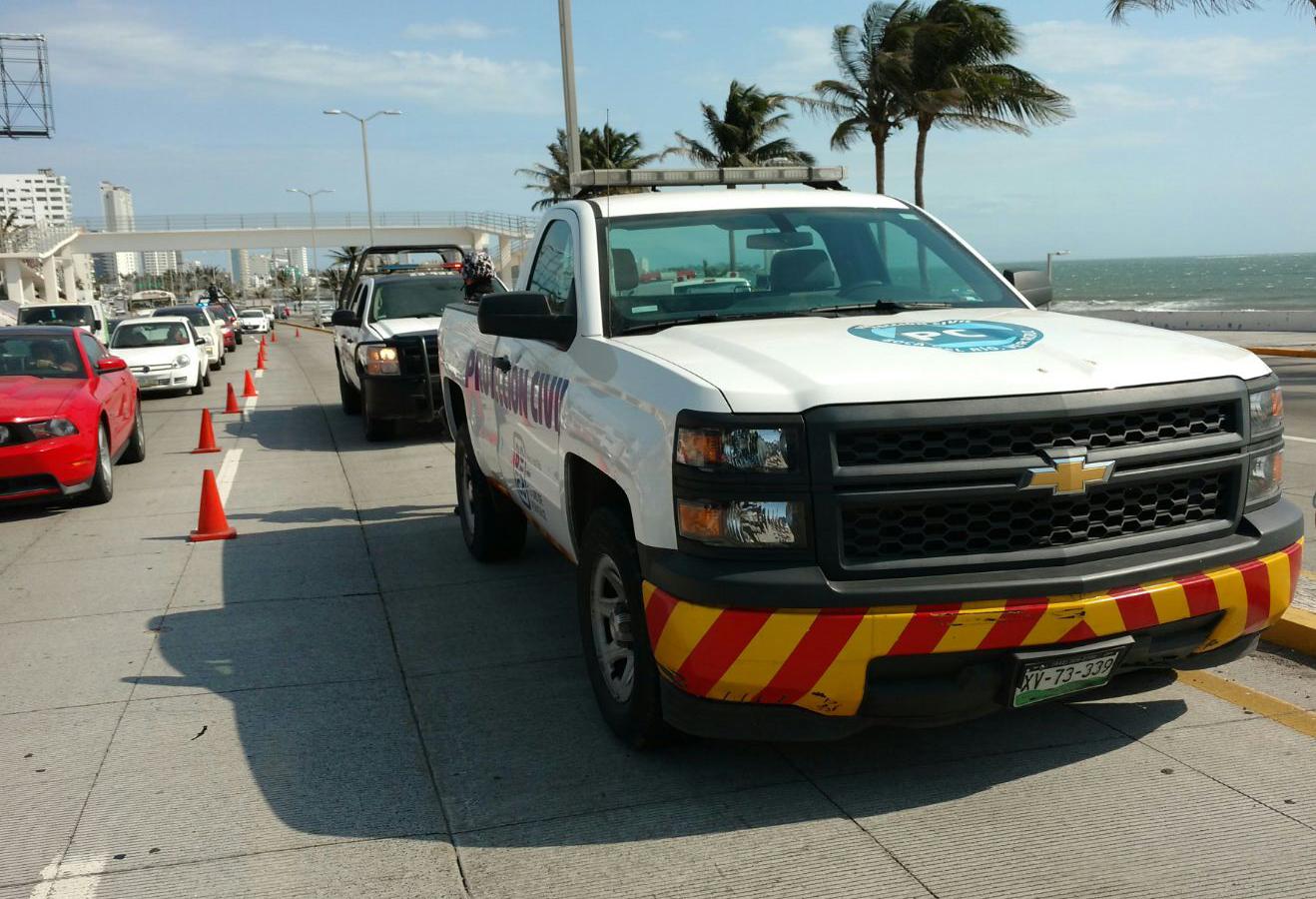 Levantan a personal de Protección Civil en bulevar de Boca del Río